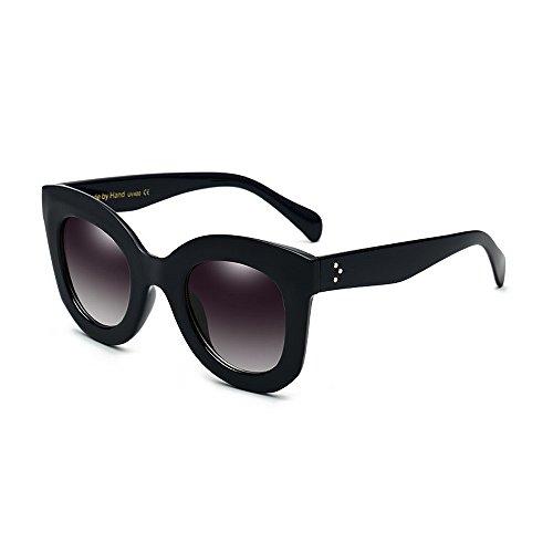 Ppy778 Polarisierte Sonnenbrillen für Männer und Frauen , UV-blockierende, blendfreie Linsen (Color : Black)