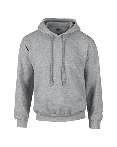 Gildan Heavyweight Ultra Hooded Sweat Grau - Grau - Sport Grey
