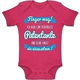 Shirtracer Sprüche Baby - Ich Habe eine verrückte Patentante blau - 6/12 Monate - Fuchsia - BZ10 - Baby Body Kurzarm für Jungen und Mädchen