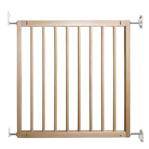 Baby Dan Flexi Wood- Puerta de seguridad para niños, ideal para huecos...