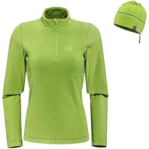 [Nuova versione] Udjat Fleece Jacket Mountain 1/4 Zip Fleece Jacket (verde, XL)