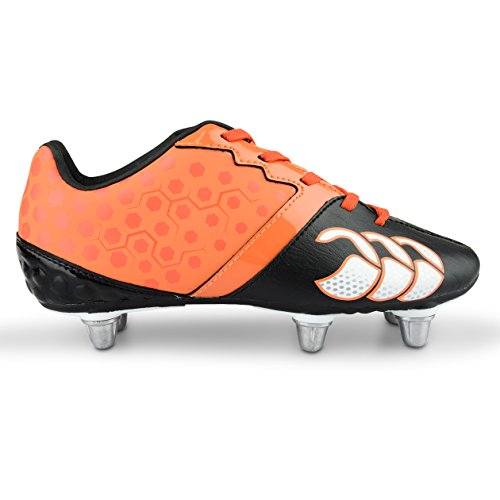 Canterbury Phoenix Club 8 Stud, Chaussures de Rugby Homme Orange (t55)