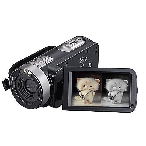 SEREE Camcorder Kamera HDV-301PL FHD IR Infrarot 1080P Nachtsicht Digital Video 16X Digital Zoom 3 Zoll Touchscreen Portable DV Recorder
