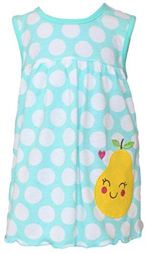 Sommer SALE! Sommerkleid | Shirt-Kleid Pincess Taufkleid Modell 1 pastell blau gepunktet mit Birne