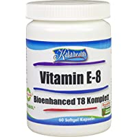 Kala Health Vitamin E-8 Bioenhanced T8 - 60 Kapseln - Enthält alle 8 bekannten Formen Vitamin E, darunter 4 Tocopherole und 4 Tocotrienole. Das umfassendste verfügbare Vitamin E Nahrungsergänzungsmittel.