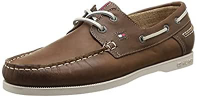 tommy hilfiger chino 12a chaussures bateau homme marron summer cognac 46 eu. Black Bedroom Furniture Sets. Home Design Ideas