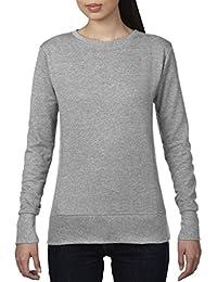 Anvil 72000L Ladies Ringspun French Terry Mid-Scoop Sweatshirt
