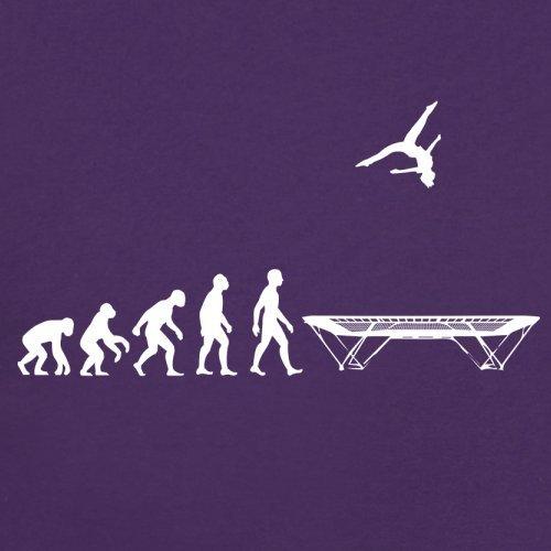 Evolution of Man - Trampolinspringen - Damen T-Shirt - 14 Farben Lila