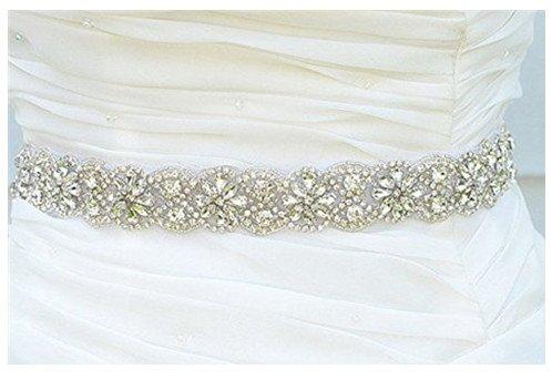 Hochzeit Gürtel Applique Braut-Gürtel, Schärpe, Gürtel Applikationen, Crystal Strass aus weißen Perlen RA219 - 2