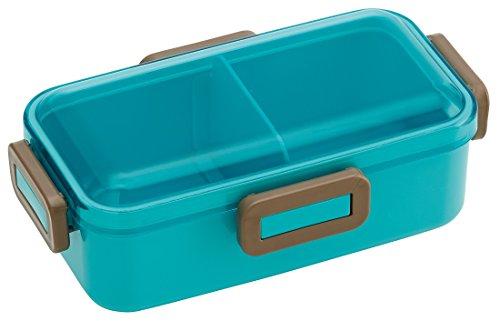 Forme de dôme Couvercle de 4 Lock Bento Lunch Box Bleu turquoise 530 ml