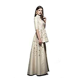 DIVYA THUKRAL Ivory Long and Short Hem Set with Stylish Pants