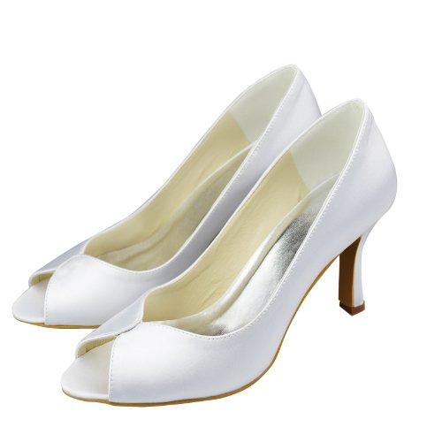 Minitoo , Peep-Toe femme Blanc - blanc