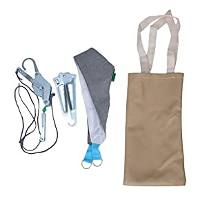 Healifty 1 Satz Halswirbelsäulentraktionsgerät-Kit über dem Kopfgeschirr des Türhalses zur physischen Linderung von Nackenschmerzen