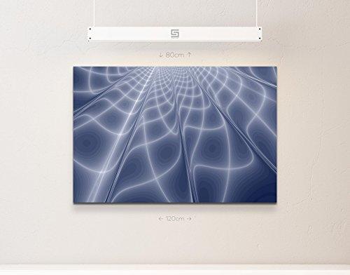 Abstraktes Bild – geometrisches Muster in blau-grauen Tönen