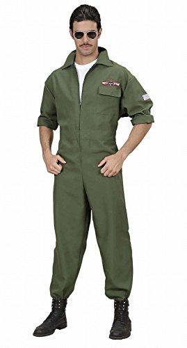 Seiler24 Kostüm Kampfjet Pilot Flieger Overall Größe S Navy Fighter US Piloten Kostüm Herren (Navy Pilot Kostüm)