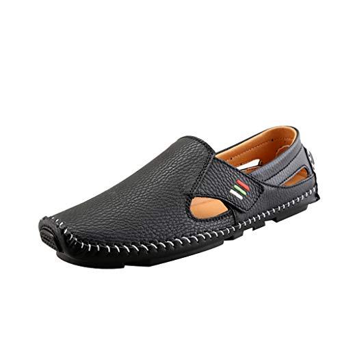 BURFLY Herren Sommer Wilde Erbsen Schuhe EIN Pedal faul lässig Schuhe Business magische Aufkleber Lederschuhe -