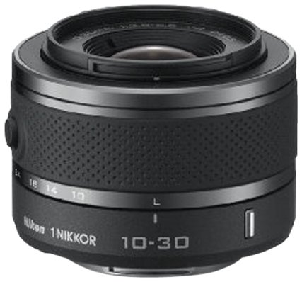 Nikon 1 Nikkor VR 10-30 mm 1:3,5-5,6 Objektiv schwarz (Nikon Aw1-kamera)