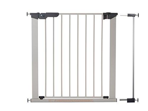 Premier Metall (Baby Dan 60117-2691-02-85 Premier TÜV/GS geprüftes Türschutzgitter/Treppenschutzgitter zum Einklemmen 73,5-86,5 cm, silber/schwarz)
