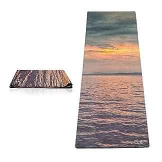 Yoga Design Lab La Esterilla de Yoga Combo de Viaje 1mm. Antideslizante   Plegable   Ligero   Ecológica   Lavable a la Máquina