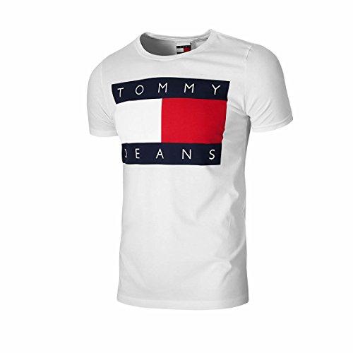 Tommy Hilfiger - Herren T-Shirt Gr. X-Large, Weiß