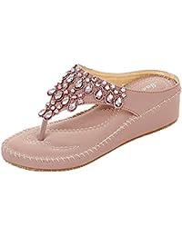 ShiFan Sandalias De Mujer Las Sandalias De Flip Flops De Bohemia del Estilo Calzan
