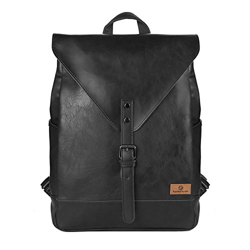 Retro-PU-Leder-Vintage-Fashion-Unisex-School-Student-Laptop14-Rucksack-Wanderrucksack-Hiking-Backpack-Damen-Herren-Schultertasche-PU-Rucksack-Fr-Camping-Reise-Geeignet-fr-Acer-Aspire-MacBook-iPhone-iP