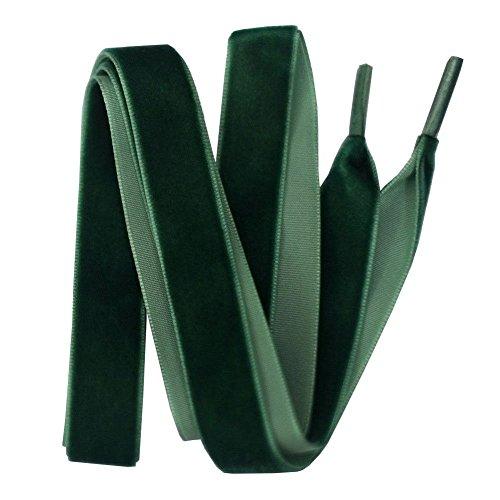 Vektenxi Breite Flache Samtschnürsenkel Band Schnürsenkel 1,6 cm x 120 cm Langlebig und praktisch