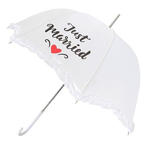 X-brella Scallop Frilled Hochzeit Regenschirm (Einheitsgröße) (Just Married)