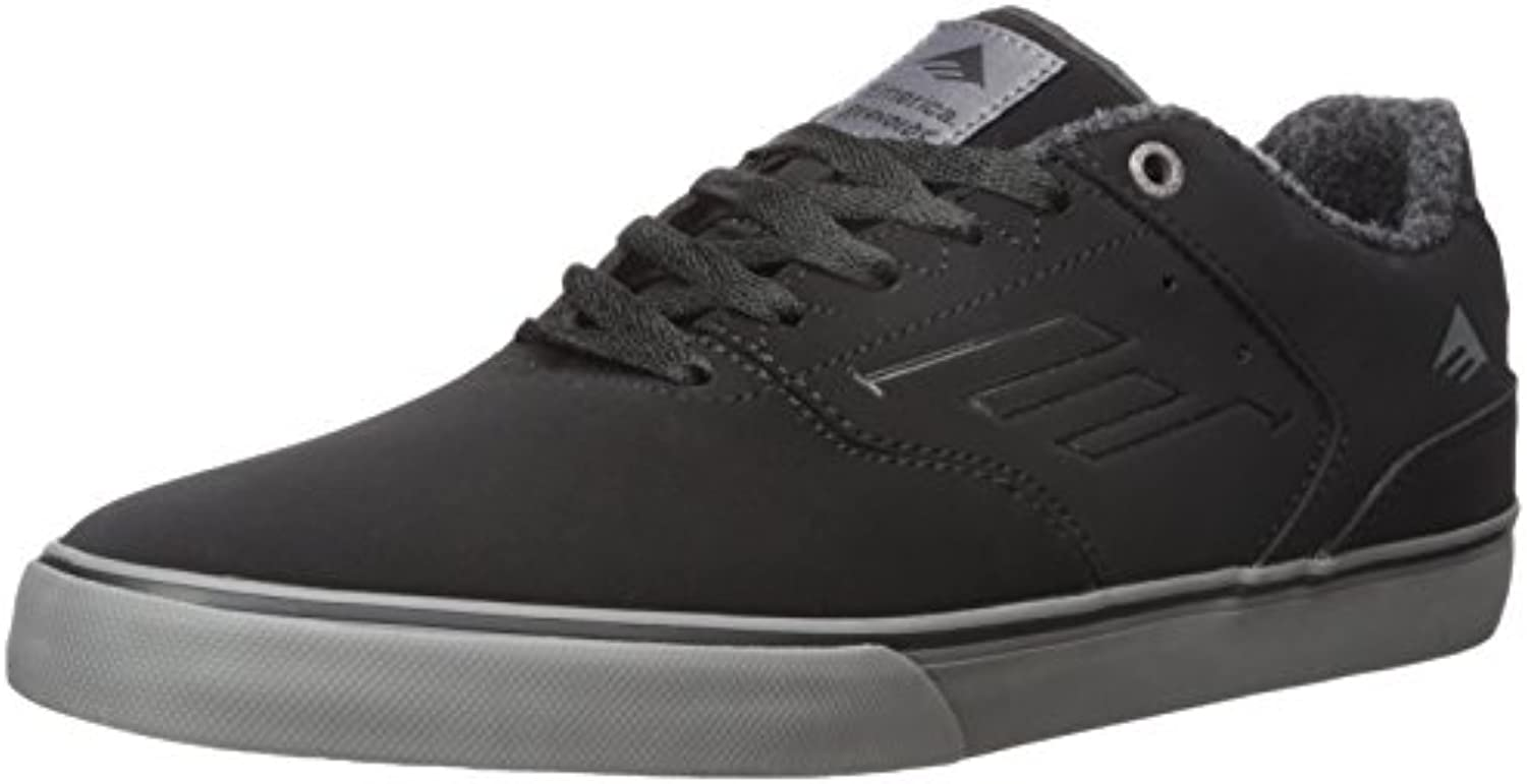 Emerica The Reynolds Low Vulc Herren Skateboardschuhe  Schwarz  39 EU