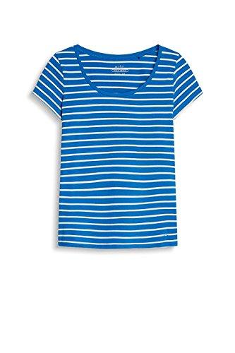 edc by Esprit 047cc1k056, T-Shirt Femme Bleu (Blue)
