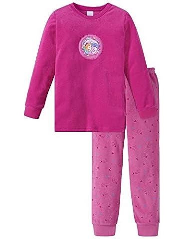 Schiesser Mädchen Zweiteiliger Prinzessin Lillifee Md Schlafanzug Lang Rot (Pink 504), 98