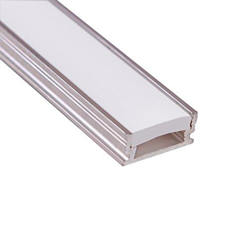 P5LED perfil aluminio non-anodized; Transparente