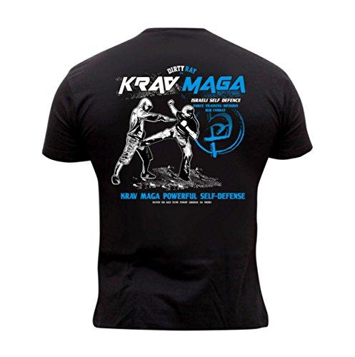 Dirty Ray Kampfsport Krav Maga Herren Kurzarm T-Shirt DT24 (XL) -