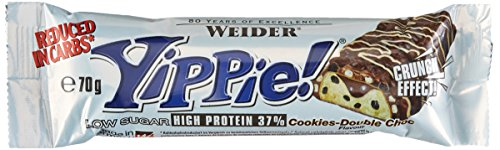 Weider YIPPIE Bar, Cookie-Double Choc, 12 x 70g, 1er Pack (840g)