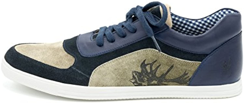 Spieth  Wensky Herren Sneaker Imanuel Crosta Vintage Braun Blau