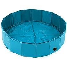 AA-Pet Folding Pool Baño de Perro bañera Verano Plegable Cabello Dorado Perro Grande Peluche