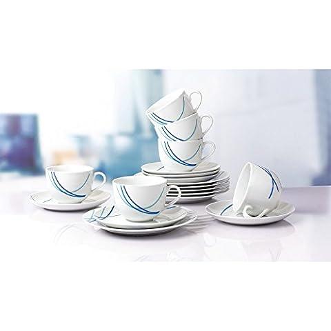 Retsch Arzberg–Servicio de café 'Breeze', porcelana, redondo, decorada, 18piezas) (1Juego)