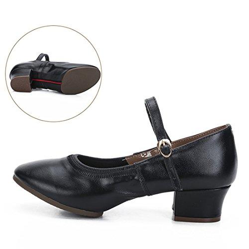 Wxmddn Scarpe da ballo femminile scarpe da ballo nero scarpe da danza adulta per le scarpe da danza adulta Nero