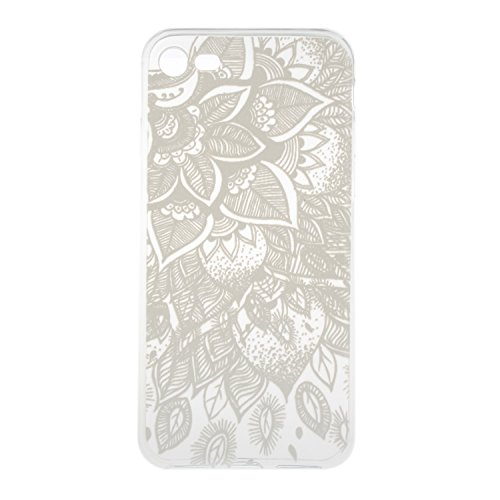 Coque pour iPhone 7 ,Housse en cuir pour iPhone 7 ,Cozy Hut Case / Cover / Phone Case / Case Pour iPhone 7 (4,7 Pouces) , TPU avec Absorption de Choc, Etui Silicone Souple, Légère / Ajustement Parfait lotus