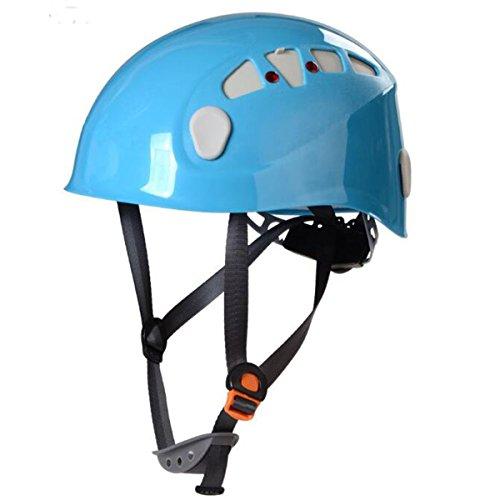 Helm Abseilen (TZQ Outdoor Abseilen Klettern Bergsteigen Helme,Blue-onesize)