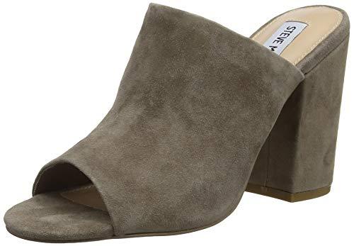 Steve Madden Womens Open Toe Heels (Steve Madden Damen Forgive Mule Pantoletten, Grau (Grey 005), 37 EU)