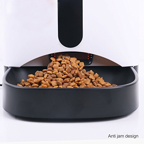 TD Design 4.3L Automatic Pet Feeder for Dogs & Cats – Up to 4 Meals a Day