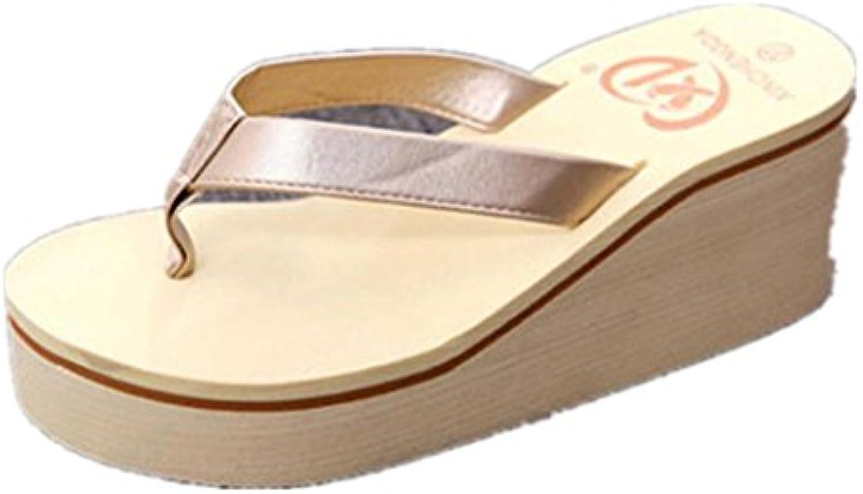 Clode® Damen Flip Flops Peep-Toe Sandalen Damenschuhe Sommer Schuhe Freizeit Sandalen