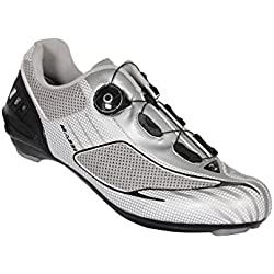 Massi Aria Platinum - Zapatillas para ciclismo de carretera unisex, color plateado/gris, talla 44