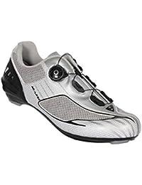 Massi Aria Platinum - Zapatillas para Ciclismo de Carretera Unisex, Color Plateado/Gris