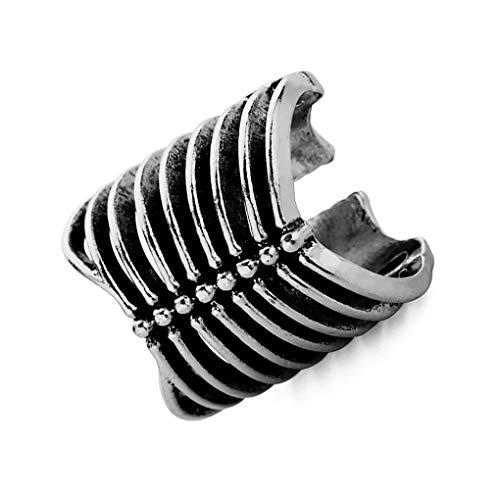 Junecat Männer Frauen Weinlese-justierbarer Skeleton Knochen aushöhlen geöffneter Ring-Legierung überzogene Schmucksache-Zusatz (Männer Skeleton Ringe)