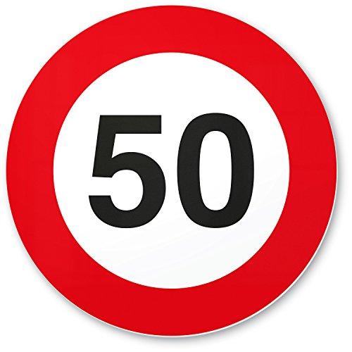 DankeDir! 50. Geburtstag Geschenk, Kunststoff Schild (20 x 20 cm), Geschenkidee Geburtstagsgeschenk runder Geburtstag 50er - Geburtstagsfeier, Kleine/süße Überraschung das Geburtstagskind