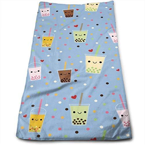 DDHHFJ Happy Boba Bubble Tea Bath Towels for Hotel-Spa-Pool-Gym-Bathroom - Super Soft Absorbent Ringspun Towels (Super Bubble Bath)