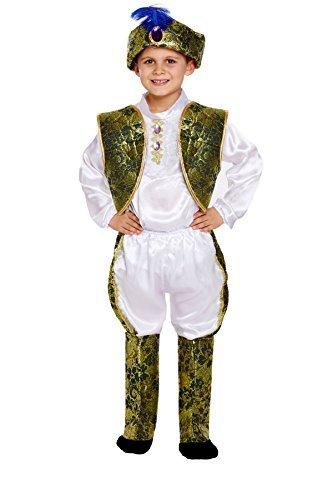 Costume da principe indiano, taglia media, per bambini dai 7 ai 9 anni