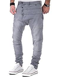 Carisma Herren Jeans Slim Fit Harem Cut Denim Hose